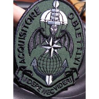 新品イタリア軍 空軍185° RGT.落下傘 コウモリ 刺繍ワッペン(パッチ)(その他)