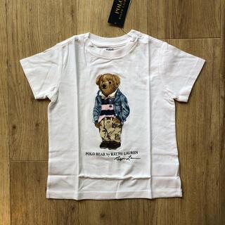 ラルフローレン(Ralph Lauren)のラルフローレン ベビー ポロベア  白 Tシャツ プレッピーベア 90(Tシャツ/カットソー)