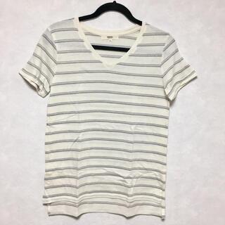 オゾック(OZOC)のオゾック Vネック ボーダー Tシャツ(Tシャツ(半袖/袖なし))