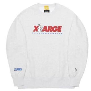 !FR2 XLARGE スウェット ホワイト 白 XLサイズ(スウェット)