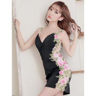 AngelR - 91633*IRMA*カラーフラワー刺繍/シースルー切替ドレス