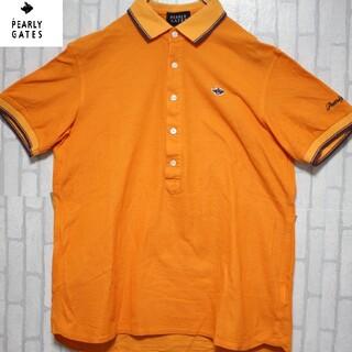 パーリーゲイツ(PEARLY GATES)のパーリーゲイツ ワンポイント Mサイズ オレンジ 刺繍 ポロシャツ(ポロシャツ)