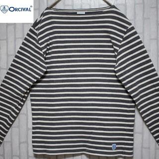 オーシバル(ORCIVAL)のオーシバル orcival バスクシャツ ボーダー ワンポイント フランス製(Tシャツ/カットソー(七分/長袖))