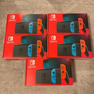 ニンテンドースイッチ(Nintendo Switch)のNintendo Switch ネオン 本体 5個セット(家庭用ゲーム機本体)