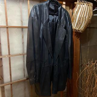 ART VINTAGE - 牛革 レザー ジャケット XL オーバーサイズ