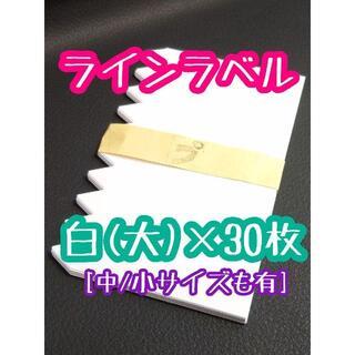 ◎ 30枚 ◎ 白 ( 大 ) ラインラベル 園芸ラベル カラーラベル(プランター)