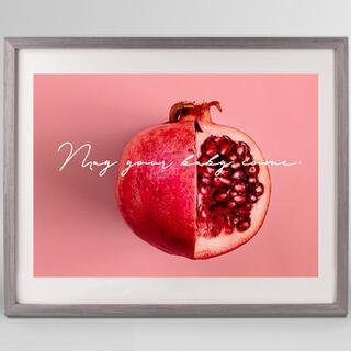 おしゃれに子宝祈願♡ざくろの絵♡北欧風 アートポスター 妊娠菌 妊娠ジンクス(アート/写真)