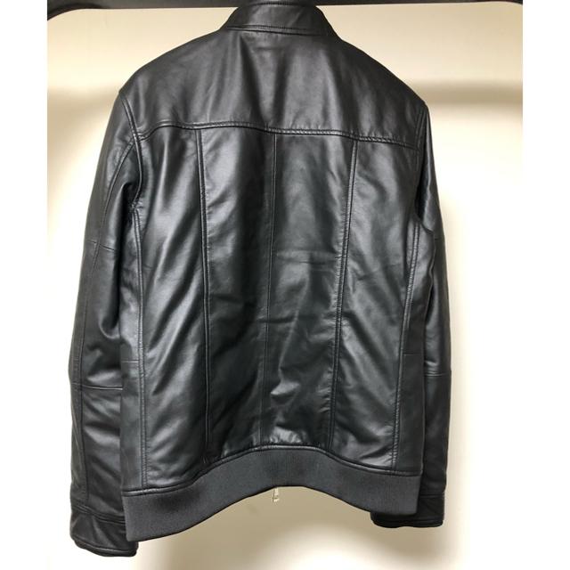 AKM(エイケイエム)のAKM Comtemporary ライダースジャケット シープレザー 黒 L メンズのジャケット/アウター(ライダースジャケット)の商品写真