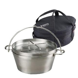 シンフジパートナー(新富士バーナー)の新品 SOTO ステンレスダッチオーブン10インチST-910 収納ケース付(調理器具)