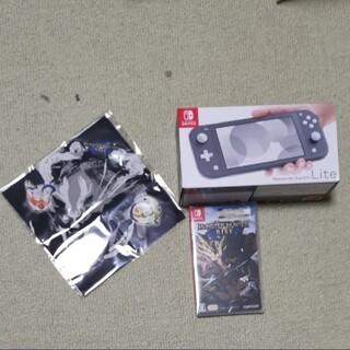 ニンテンドースイッチ(Nintendo Switch)のNintendoSwitch Lite グレー モンスターハンターライズ セット(家庭用ゲーム機本体)