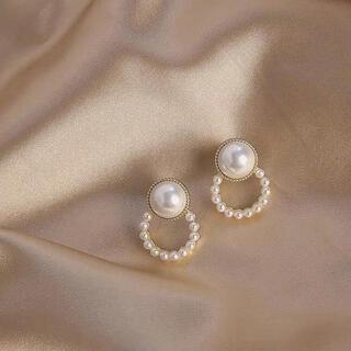 ドゥーズィエムクラス(DEUXIEME CLASSE)のretro round pearl pierce ◯s925 post(ピアス)