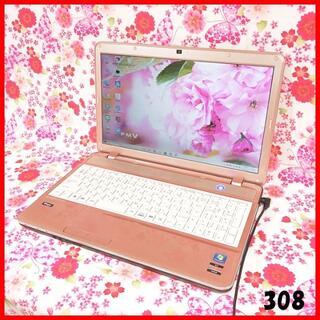 フジツウ(富士通)の可愛いピンク♪Webカメラ搭載♪オフィス♪爆速SSD♪Windows10(ノートPC)