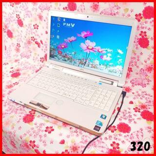 フジツウ(富士通)のノートパソコン♪Corei5♪高速SSD♪オフィス♪Webカメラ♪Win10(ノートPC)