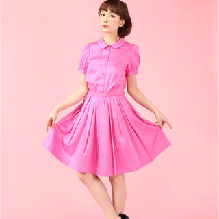 ドーリーガールバイアナスイ(DOLLY GIRL BY ANNA SUI)のドーリーガールバイアナスイ フラワーダイセットアップ(ひざ丈スカート)