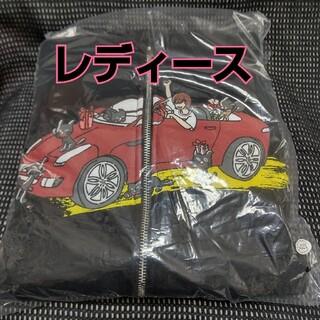 【LEVEL5】キヨ猫パーカー ジップアップ ブラック レディース【レベル5】(パーカー)