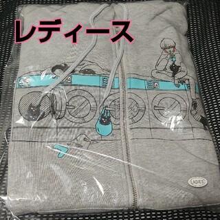 【LEVEL4】キヨ猫パーカー ジップアップ グレー レディース【レベル4】(パーカー)