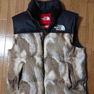Supreme - supreme noth face Fur Print Nuptse Vest