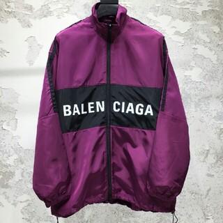 Balenciaga - 【BALENCIAGA】前開き 胸ロゴ ジップアップ ジャケット