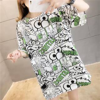 セサミストリート(SESAME STREET)のセサミストリート Tシャツ オーバーサイズ 韓国 体型カバー L インスタ映え(Tシャツ(半袖/袖なし))