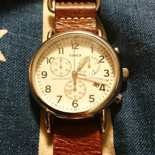 タイメックス(TIMEX)のTIMEX Weekender Chrono レザーベルト タイメックス(腕時計(アナログ))