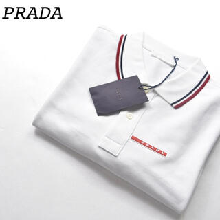 プラダ(PRADA)の未使用品 鹿の子 PRADA プラダ ポロシャツ ホワイト 白 SJJ887(ポロシャツ)