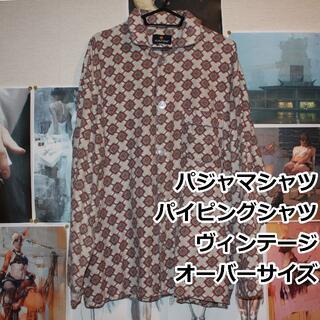 パジャマシャツ/パイピングシャツ/L/VINTAGE(シャツ)