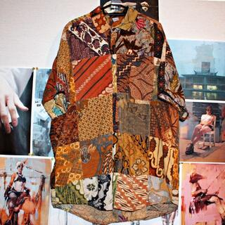 半袖シャツ/クレイジーパターン/和柄/再構築/パッチワーク(シャツ)