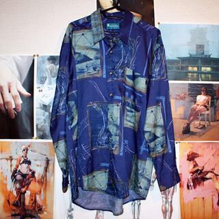 グラフィックシャツ/VINTAGE/オーバーサイズ/LL/長袖シャツ(シャツ)