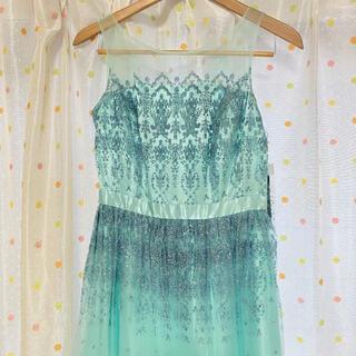 エメ(AIMER)の【タグ付き】ジュネビビアン♪ラメ水色ドレス(ロングドレス)