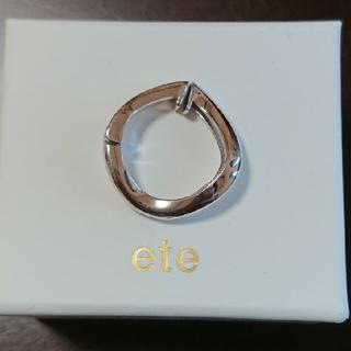 ete - 【片耳のみ】ete ハグイヤリング  シルバー