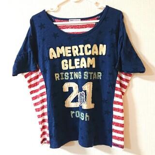 ラフ(rough)のrough アメリカ国旗モチーフ ワッペン Tシャツ(Tシャツ(半袖/袖なし))