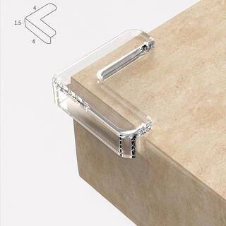 イケア(IKEA)のコーナークッションガード透明 8個 赤ちゃん 子供安全対策家具の角を保護 L型(コーナーガード)