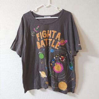 ラフ(rough)のrough 宇宙対戦 ワッペン Tシャツ(Tシャツ(半袖/袖なし))
