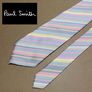 Paul Smith - Paul Smith ポールスミス ネクタイ ストライプ ピンク グレー 黄色