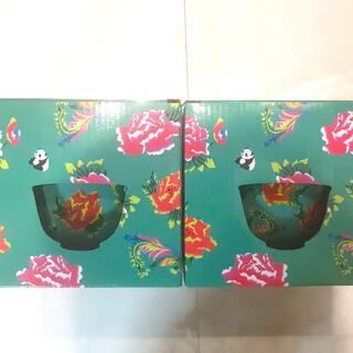 カルディ 台湾 どんぶりとれんげセット パンダ(食器)