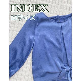 INDEX - 【INDEX】きめいめ トップス ブルー Mサイズ