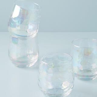 アンソロポロジー(Anthropologie)のアンソロポロジー グラス 2個セット オーロラグラス ワイングラス タンブラー(グラス/カップ)