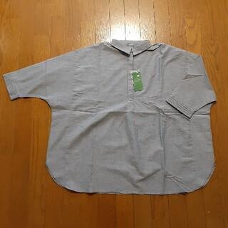 アースミュージックアンドエコロジー(earth music & ecology)のearth  プルオーバーシャツ Lサイズ(シャツ/ブラウス(半袖/袖なし))