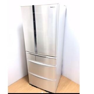 パナソニック(Panasonic)の冷蔵庫 エコナビ ナノイー シャンパンゴールド系 パナソニック ガラス棚(冷蔵庫)