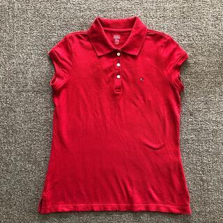 トミーヒルフィガー(TOMMY HILFIGER)のトミーフィルフィガー 赤ポロシャツ 160cm(Tシャツ/カットソー)