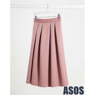 エイソス(asos)の【新品・未使用】ASOS ふんわり上品なスキューバウエディングスカート(ひざ丈スカート)