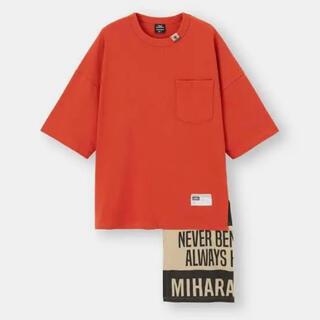 ミハラヤスヒロ(MIHARAYASUHIRO)の【ミハラヤスヒロ×GU】フハクコンビネーション Tシャツ L(Tシャツ/カットソー(半袖/袖なし))