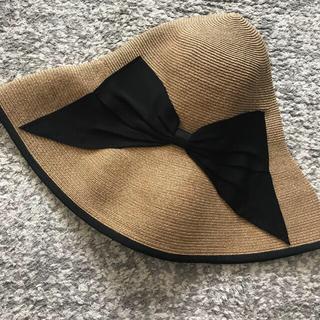 バーニーズニューヨーク(BARNEYS NEW YORK)のアシーナニューヨーク キンバリー 帽子 リボン(麦わら帽子/ストローハット)
