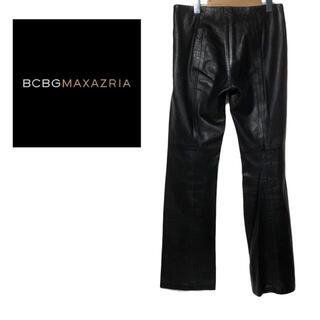 ビーシービージーマックスアズリア(BCBGMAXAZRIA)のビーシービージーマックスアズリア bcbg maxazria レザー パンツ(カジュアルパンツ)