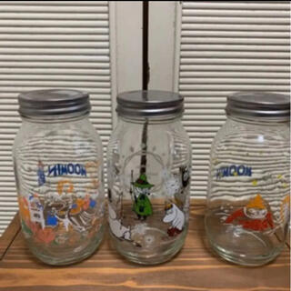 リトルミー(Little Me)のムーミン  ガラス キャニスター ガラス瓶 3個(容器)