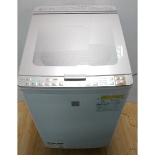 SHARP - 洗濯機 シャープ 乾燥機 プラズマクラスター ハイスペックモデル ガラストップ