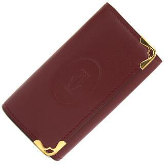 カルティエ(Cartier)の カルティエ 4連キーケース マスト ボルドー 中古(キーホルダー)