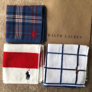 ラルフローレン(Ralph Lauren)のラルフローレン 新品タオルハンカチ 3枚セット(ハンカチ)