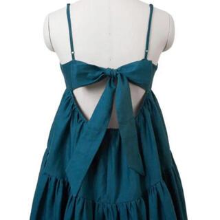 Velnica - 12万円 MYLAN マイラン カラーリネン バックリボン ドレス 新品未使用