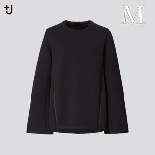 UNIQLO - +J UNIQLO ジルサンダー ドライスウェット クルーネックシャツ 黒【M】